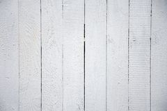 Free White Wooden Boards Covered With Paint, Textured Wooden Fence Royalty Free Stock Images - 155681109
