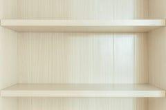 White wooden bookshelf Stock Image