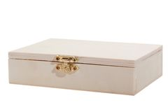 White wooden box Stock Photography