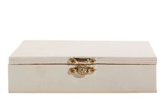 White wooden box. Stock Photography