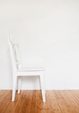 White wooden chair Royalty Free Stock Photography