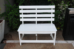 White wooden chair Stock Image