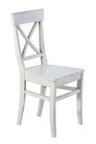 White wooden chair isolated Royalty Free Stock Images