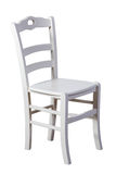 White wooden chair isolated Stock Photo