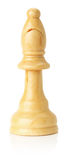 White wooden chess bishop on the white background Stock Photography