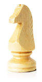 White wooden chess horse on the white background Royalty Free Stock Image