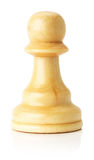 White wooden chess pawn on the white background Stock Photography