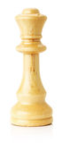 White wooden chess queen on the white background Stock Image