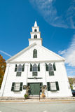 White wooden church, Newfane, Windom County, Vermont, USA Stock Images