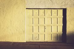 White Wooden Closed Door Royalty Free Stock Photography