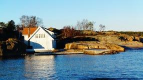 White wooden cottage Stock Photo