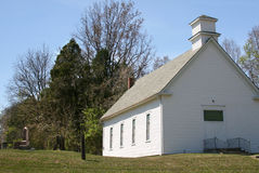 White Wooden Country Church Stock Image