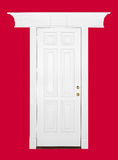 White wooden door Stock Images