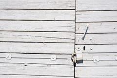 White wooden door Stock Photography