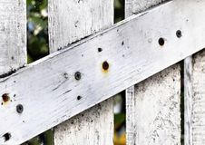 White wooden door detail Royalty Free Stock Photos