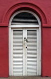 White wooden door. An old white wooden door Royalty Free Stock Photography