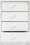 White wooden drawers. Royalty Free Stock Images