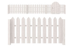 White Wooden Fence Stock Photography