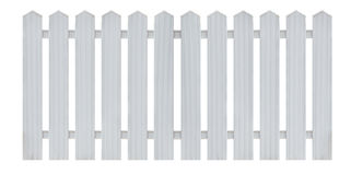 White wooden fence isolated on white. White wooden country style fence isolated on white background. Object with clipping path stock photography