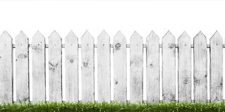 White wooden fence Royalty Free Stock Image