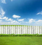 White Wooden Fences Royalty Free Stock Images