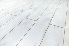 White wooden floor as background texture Royalty Free Stock Image