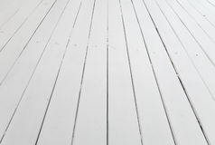 White wooden floor background perspective Royalty Free Stock Image