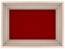 White wooden frame. With bordo background Royalty Free Stock Photography