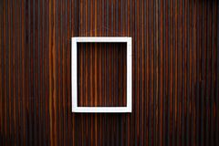 White wooden frame Royalty Free Stock Photos