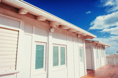 White wooden house in the summer. Sicily, Italy, Europe. Stock Photography
