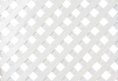 White wooden lattice Royalty Free Stock Photos