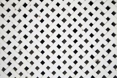 White wooden lattice royalty free stock photography