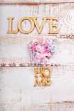 White wooden love home  background Royalty Free Stock Photography