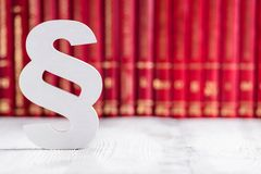 White wooden paragraph Royalty Free Stock Photography