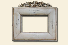 White wooden photo frame Royalty Free Stock Images
