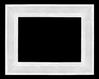 White wooden picture frame Royalty Free Stock Image