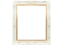 White wooden picture frame Stock Photo