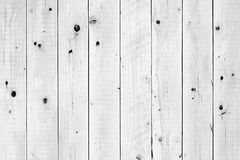White Wooden Planks. Closeup of wooden planks painted white Stock Image