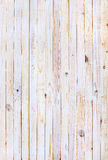 White Wooden Planks in the Row Stock Photography