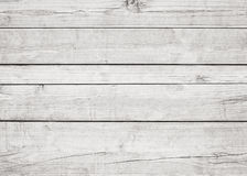 White wooden planks, wall, table, ceiling or floor surface. Wood texture Royalty Free Stock Image