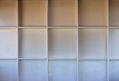 White wooden shelf Royalty Free Stock Photography