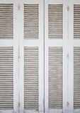 White wooden shutters Royalty Free Stock Photography