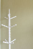 White wooden standing cloth rack Stock Photography