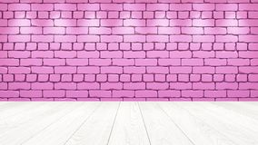 The white wooden table top in the background is a pink old brick. Spotlight effect on the wall - can be used for display or vector illustration