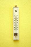 White wooden termometer Stock Image