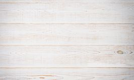 White wooden texture table background. Wood empty floor with copy space. Template desk top view and mock up. Banner.  stock photo