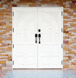 White wooden texuture door Royalty Free Stock Images
