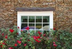White wooden vintage window Stock Photo