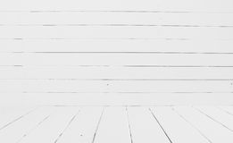 White wooden wall background Royalty Free Stock Photos