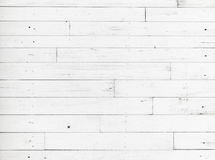 White wooden wall, detailed background texture Royalty Free Stock Photos